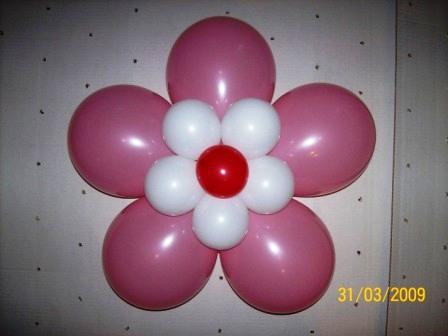 Сделать цветок из шаров