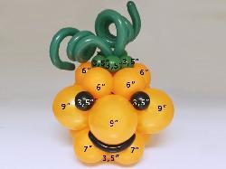 Как сделать тыкву из шариков 205